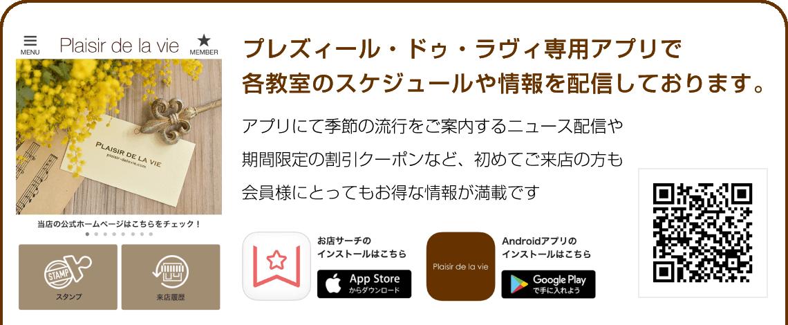 プレズィール ドゥ ラ ヴィのアプリ